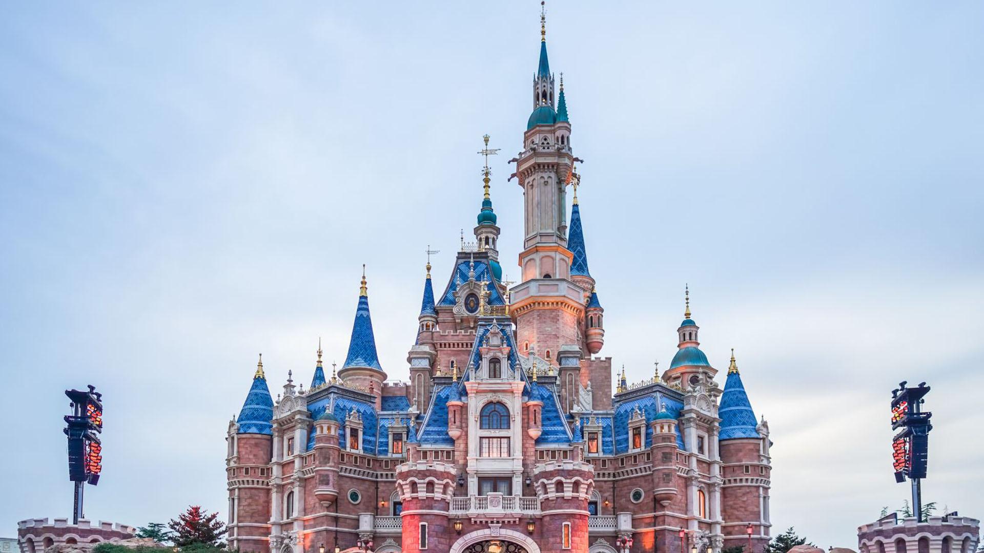 上海迪士尼城堡—风景图片—美图美秀